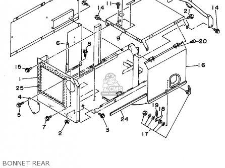 Yamaha Edl6500s 7nf1 7nfa Generator 1998 Bonnet Rear