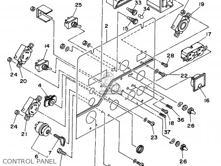 Yamaha Edl6500s 7nf1 7nfa Generator 1998 Control Panel