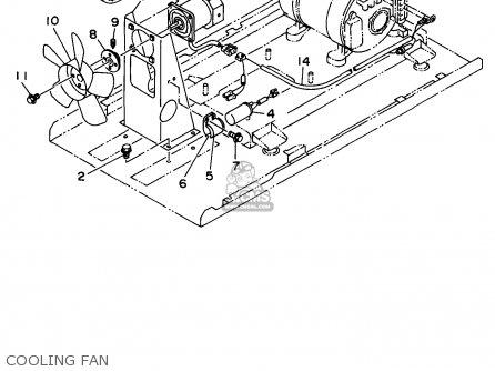 Yamaha Edl6500s 7nf1 7nfa Generator 1998 Cooling Fan