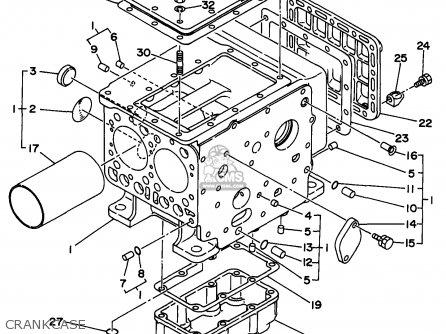 Yamaha Edl6500s 7nf1 7nfa Generator 1998 Crankcase