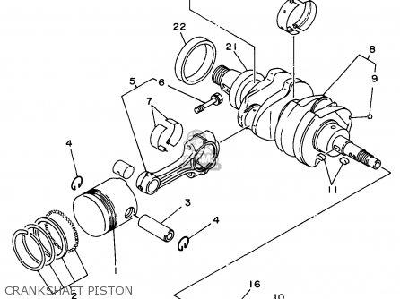 Yamaha Edl6500s 7nf1 7nfa Generator 1998 Crankshaft Piston