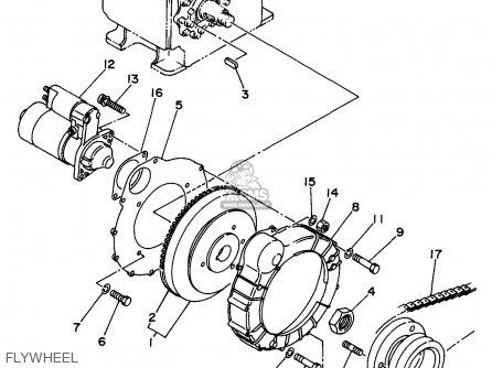 Yamaha Edl6500s 7nf1 7nfa Generator 1998 Flywheel