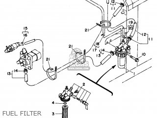 Yamaha Edl6500s 7nf1 7nfa Generator 1998 Fuel Filter