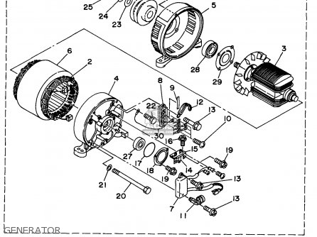 Yamaha Edl6500s 7nf1 7nfa Generator 1998 Generator