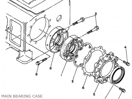 Yamaha Edl6500s 7nf1 7nfa Generator 1998 Main Bearing Case
