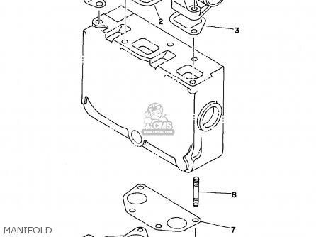Yamaha Edl6500s 7nf1 7nfa Generator 1998 Manifold