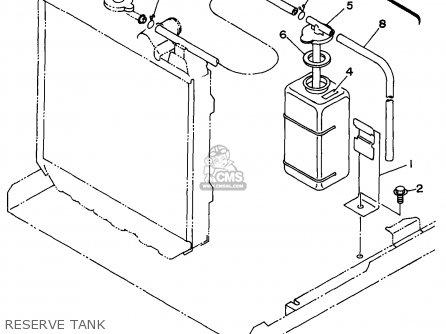 Yamaha Edl6500s 7nf1 7nfa Generator 1998 Reserve Tank