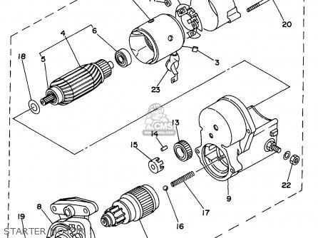 Yamaha Edl6500s 7nf1 7nfa Generator 1998 Starter Motor