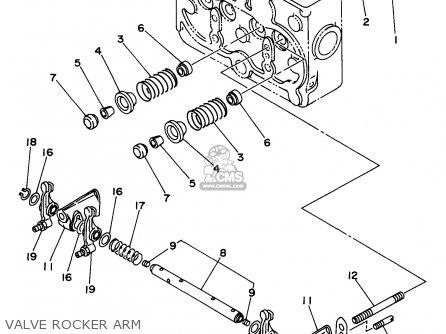 Yamaha Edl6500s 7nf1 7nfa Generator 1998 Valve Rocker Arm