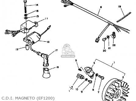 Yamaha Ef1800 Ef2600 Ef1200 Generator C d i  Magneto ef1200