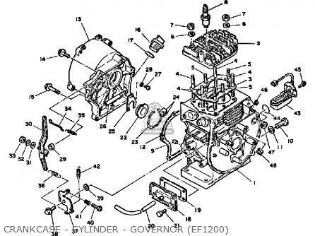 Yamaha Ef1800 Ef2600 Ef1200 Generator Crankcase - Cylinder - Governor ef1200