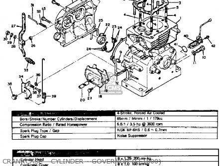 Yamaha Ef1800 Ef2600 Ef1200 Generator Crankcase - Cylinder - Governor ef1800