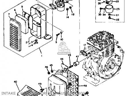 Yamaha Ef1800 Ef2600 Ef1200 Generator Intake - Carburetor - Exhaust ef2600
