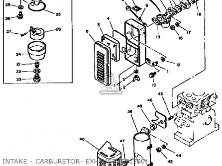 Yamaha Ef1800 Ef2600 Ef1200 Generator Intake - Carburetor- Exhaust ef1200