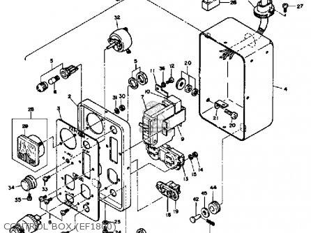 Yamaha Ef1800 2600 1200 Generator Control Box ef1800