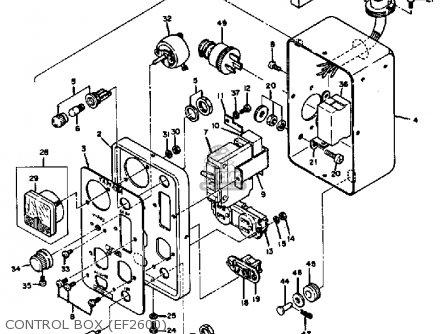 Yamaha Ef1800 2600 1200 Generator Control Box ef2600