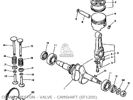 Yamaha Ef1800 2600 1200 Generator Crank - Piston - Valve - Camshaft ef1200