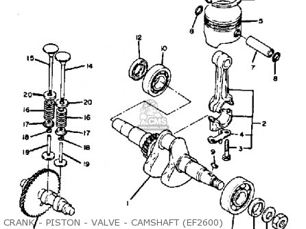 Yamaha Ef1800 2600 1200 Generator Crank - Piston - Valve - Camshaft ef2600