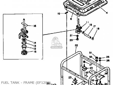 Yamaha Ef1800 2600 1200 Generator Fuel Tank - Frame ef1200