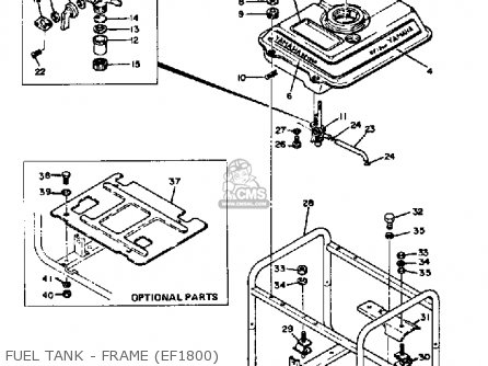 Yamaha Ef1800 2600 1200 Generator Fuel Tank - Frame ef1800