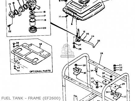 Yamaha Ef1800 2600 1200 Generator Fuel Tank - Frame ef2600
