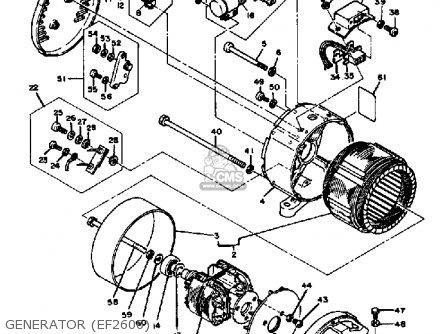 Yamaha Ef1800 2600 1200 Generator Generator ef2600