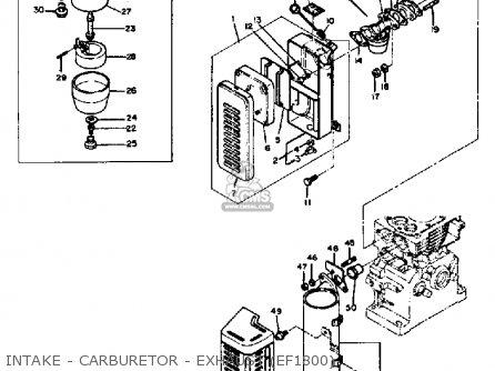 Yamaha Ef1800 2600 1200 Generator Intake - Carburetor - Exhaust ef1800