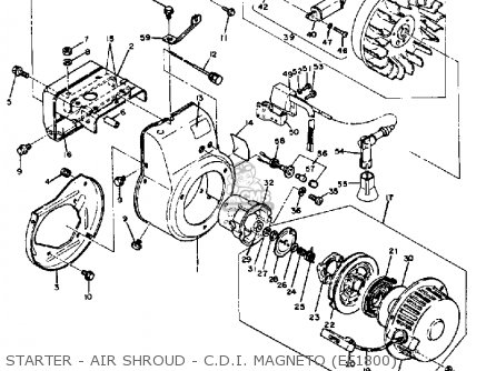 Yamaha Ef1800 2600 1200 Generator Starter - Air Shroud - C d i  Magneto ef1800