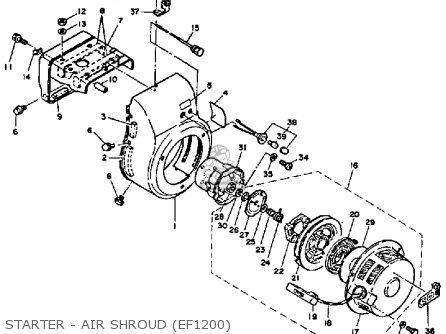 Yamaha Ef1800 2600 1200 Generator Starter - Air Shroud ef1200