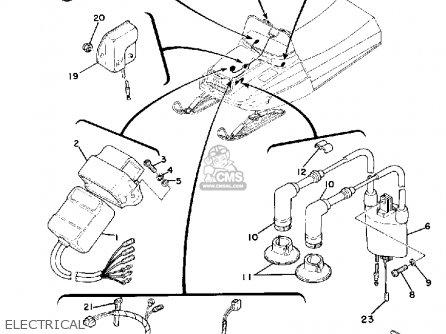 Diagram Of Yamaha Snowmobile Parts 1978 Et340b Electrical Diagram