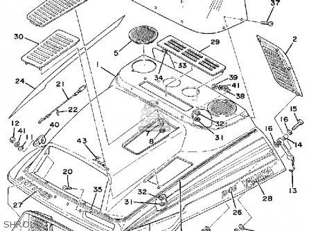 Diagram Of 1979 Et340ec Yamaha Snowmobile Rear Axle Wheel Diagram