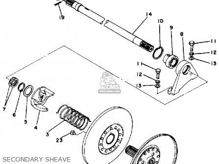 Yamaha Snowmobile Parts 1978 Ex440b Track Suspension Diagram