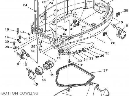 Yamaha F115tlrz txrz - Lf115txrz 2001 Bottom Cowling