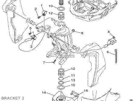 Yamaha F115tlrz txrz - Lf115txrz 2001 Bracket 2