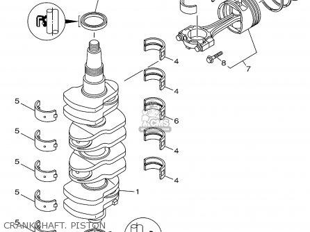 Yamaha F115tlrz txrz - Lf115txrz 2001 Crankshaft  Piston