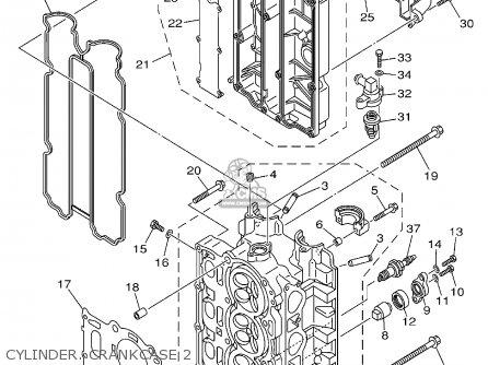 Yamaha F115tlrz txrz - Lf115txrz 2001 Cylinder  Crankcase 2