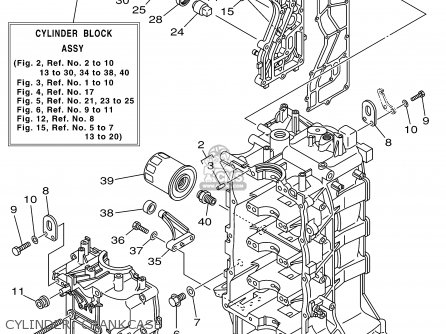 Yamaha F115tlrz txrz - Lf115txrz 2001 Cylinder  Crankcase