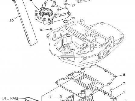 Yamaha F115tlrz txrz - Lf115txrz 2001 Oil Pan