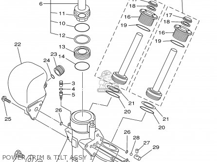 Yamaha F115tlrz txrz - Lf115txrz 2001 Power Trim  Tilt Assy 1