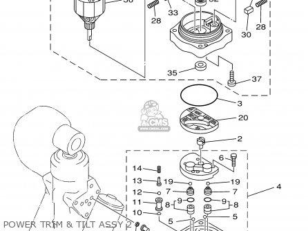 Yamaha F115tlrz txrz - Lf115txrz 2001 Power Trim  Tilt Assy 2