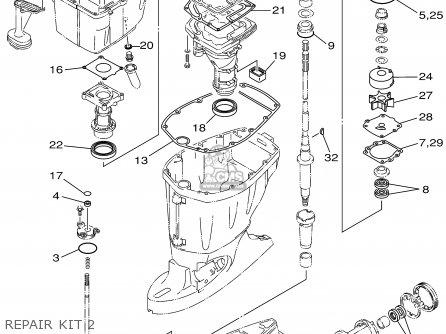 Yamaha F115tlrz txrz - Lf115txrz 2001 Repair Kit 2