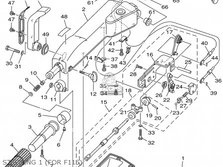 Yamaha F115tlrz txrz - Lf115txrz 2001 Steering 1 for F115