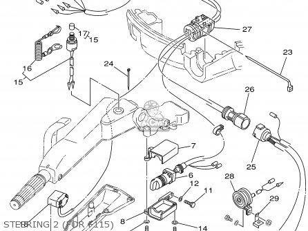 Yamaha F115tlrz txrz - Lf115txrz 2001 Steering 2 for F115