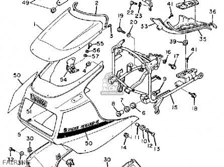 Yamaha Fz750 Genesis 1985 F Usa Parts Lists And Schematics