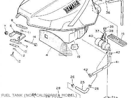 Yamaha Fzr D Fuel Tank Non California Model Mediumyau F Fad on Yamaha Fzr1000d 1992 Parts List Partsmanual Partsfiche