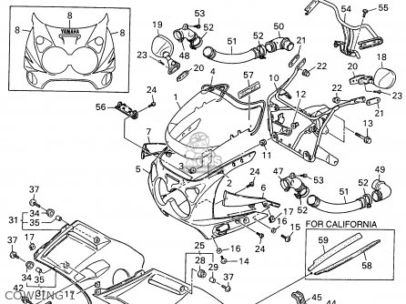 Yamaha Fzr600 Rh 1996 Cowling 1