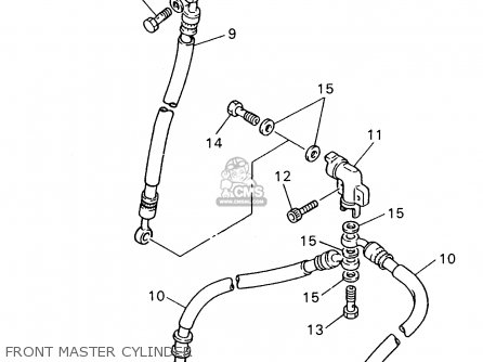 Yamaha Fzr600 Rh 1996 Front Master Cylinder