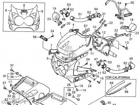 Yamaha Fzr600r 1996 t Usa Cowling 1