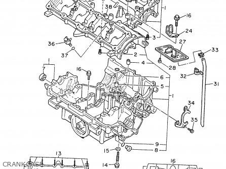 Yamaha Fzr600r 1996 t Usa Crankcase