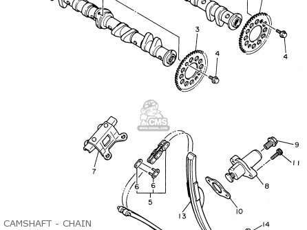 Yamaha Fzr600rh 1996 Usa Camshaft - Chain